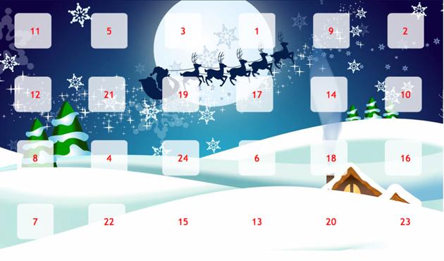 Julkalender med rabatt